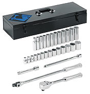 "30 Piece 12 Point 1/2"" Drive Socket Set"
