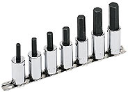 "7 Piece 1/2"" Drive Hex Driver Socket Set"