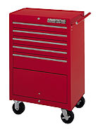 Armstrong 5 Drawer Single Bay Roller Cabinet