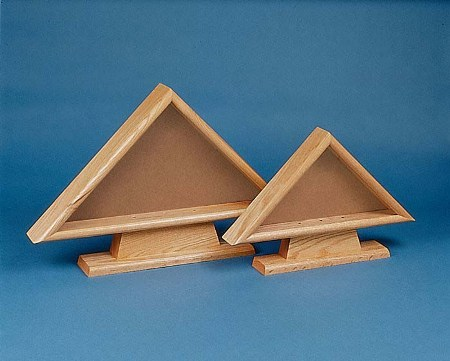 "Internment Cases - Oak wood Cases for ceremonial flag display 12""x18"" - American Made"