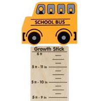 Maple Landmark Growth Sticks - School Bus- Made in USA