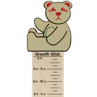 Maple Landmark Growth Sticks - Teddy Bear - Made in USA