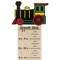 Maple Landmark Growth Sticks - Train Engine - American Made