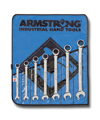 Armstrong 10 Pc. Fractional Geared Combination Wrench Set (Roll)