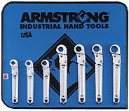 Armstrong 7 Pc. Ratcheting Flare Nut Wrench Set - Made in America