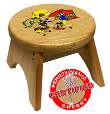 Holgate Toys 3 Little Pigs Stool - American Made