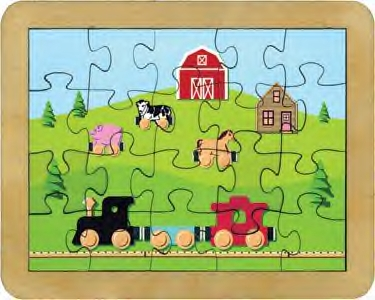 Maple Landmark - Countryside Railroad Puzzle Made in USA