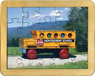 Maple Landmark - School Bus Puzzle - Made in USA