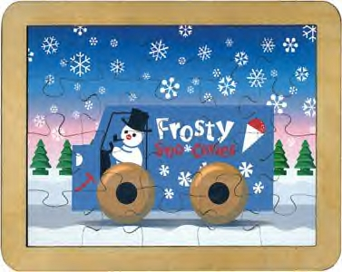 Maple Landmark - Frosty Puzzle - American Made