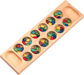 Mancala Game Made in USA - Pine