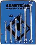Armstrong 11 Pc. 12 Point Full Polish 15degree Offset Box Wrench Set Metric
