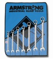 Armstrong 10 Pc Metric Geared Reversible Wrench Set