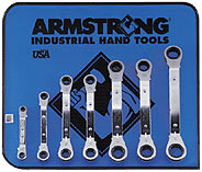 7 Pc. 25 degree Offset Ratcheting Box Wrench Set