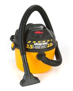 Shop-Vac 2.5 gallon 2.0hp wet dry vac - Made in USA