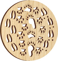 Maple Landmark Ornament - Natural - Tracks
