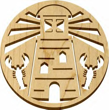 Hard Wood Trivet Made in USA - Natural - Lighthouse