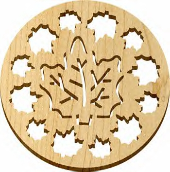 Trivet - Natural - Maple Leaves