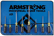 Armstrong  8 Pc. (Standard, Phillips) Screwdriver Set - Made in USA