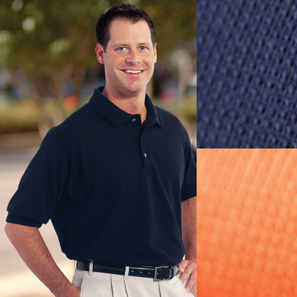 Men's Textured Performance Golf Shirt - Concord - Made in USA