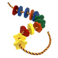 Holgate Toys Jumbo Lacing Shapes - American Made
