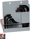 Eklind&#174 Hex-L&#174 Hex Key Set, Short Series, 18 keys: .028 to 5/8 Inch & Metal Box