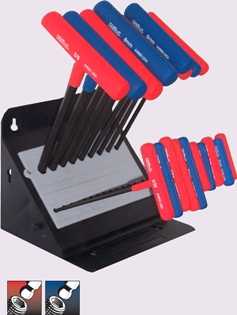 Eklind&#174 Power-T&#8482 T-Handle Ball-Hex Key, 19 key Combo Pack