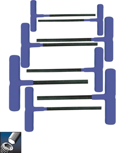 Eklind&#174 Power-T&#8482 T-Handle Hex Key Set, 6 inch Series, 8 keys: 2 to 10 MM & Pouch