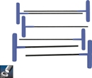 Eklind&#174 Power-T&#8482 T-Handle Hex Key Set, 9 inch Series, 6 keys: 2 to 6 MM & Pouch