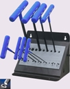 Eklind&#174 Power-T&#8482 T-Handle Hex Key Set, 9 inch Series, 8 keys: 2 to 10 MM & Stand