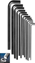 Eklind&#174 Hex-L&#174 Hex Key Set, Long Series, 11 keys: 1.5 to 10 MM & Pouch