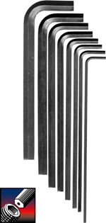 Eklind&#174 Security Hex-L&#174 Hex Key Set, Long Series, 8 keys: 3/32 to 3/8 Inch & Pouch
