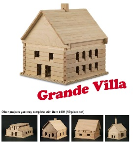 Stack and Stick Grande Villa Building Set - American Made
