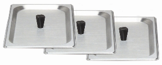 STAINLESS LID FOR 2.6 QT CHAFING DISH   -  SET OF 3