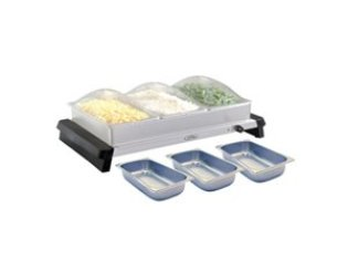 BROILKING TRIPLE BUFFET SERVER W/ CLEAR LIDS W/ BONUS PANS