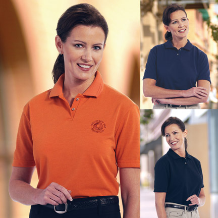 Ladies Textured Polo Shirt -Lady Concord - American Made