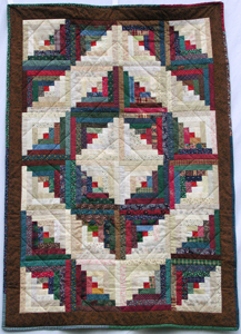 Log Cabin Crib Quilt in Country Colors Made in USA
