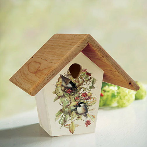 Droll Yankees 10-Inch Nest Box with Flower and Bird Design