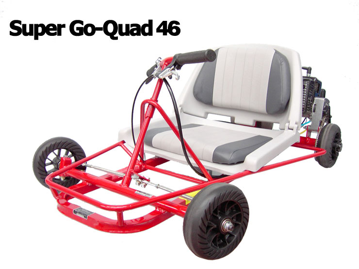 Gas Powered - (Mini Karts) Super Go-Quad 46, Red
