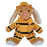 Hoppity Firefighter Stuffed Animal Made in USA