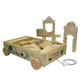 Holgate Wagon of Blocks - Wooden Toy - Made in USA