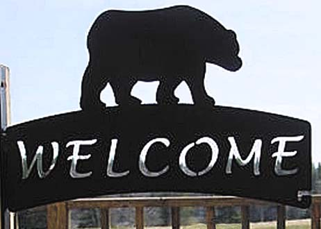 North Country Bear Welcome Sign Hanger - American Made
