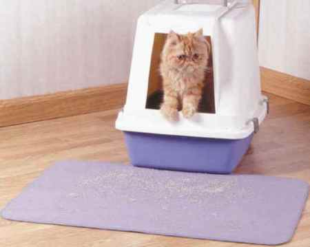 Set of 2 - Cat Litter Box Mats