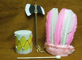 Pink Brave Set Drum Set Made in USA
