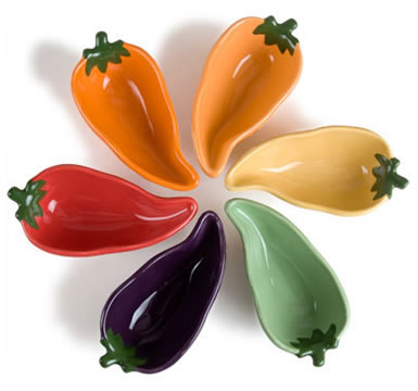 6-Piece Chili Pepper Salsa Set - Assorted