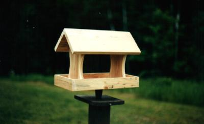 Bird Feeder - Natural Wood - American Made