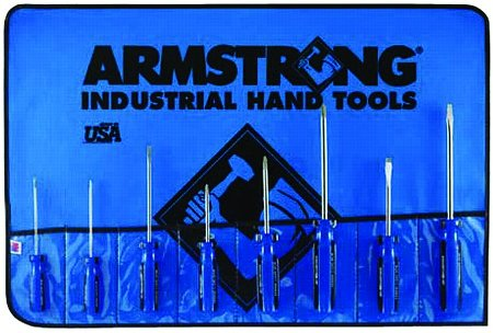 Armstrong 8 Pc. (Standard, Phillips, Cabinet) Screwdriver Set Made in USA