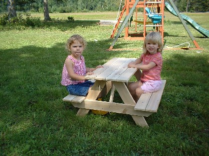 Toddler's Picnic Table - American Made