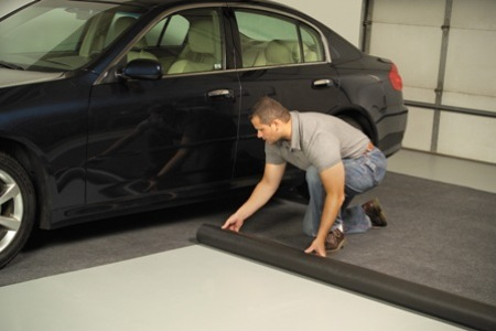 Large American Made Garage Floor Car Mat