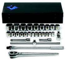 "28 Piece 12 Point 3/4"" Drive Socket Set - Free Shipping!"