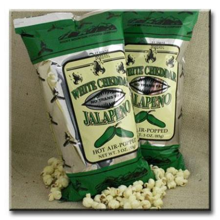 12 bags of 3 oz. Jalepeno White Chedder Popcorn